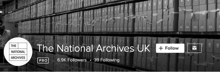 Screen Shot of UK National Archives Flickr